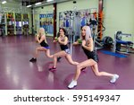 group classes at the gym | Shutterstock . vector #595149347