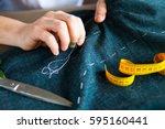 tailor man working in his... | Shutterstock . vector #595160441