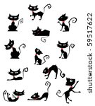Collection Of Black Cat...