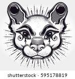 hand drawn beautiful artwork of ... | Shutterstock .eps vector #595178819