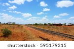 african landscape with railways | Shutterstock . vector #595179215