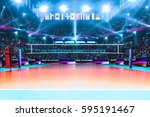 empty professional volleyball... | Shutterstock . vector #595191467
