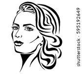 illustration with outline...   Shutterstock .eps vector #595192649