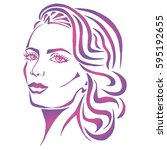 illustration with outline...   Shutterstock .eps vector #595192655