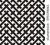 weave seamless pattern. stylish ... | Shutterstock .eps vector #595198061