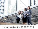 business people walking...   Shutterstock . vector #595201319