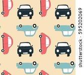 car pattern baby print design... | Shutterstock .eps vector #595202069