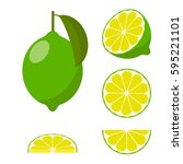 Icon Set Lime  Vector...