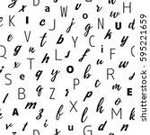 alphabet seamless pattern... | Shutterstock .eps vector #595221659