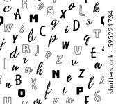 alphabet seamless pattern...   Shutterstock .eps vector #595221734