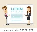 business woman making a... | Shutterstock .eps vector #595221929