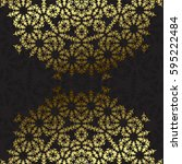 elegant background with lace... | Shutterstock .eps vector #595222484