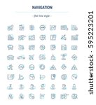 vector graphic set. icons in... | Shutterstock .eps vector #595223201