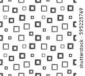 seamless vector geometrical... | Shutterstock .eps vector #595225769