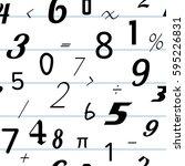number seamless pattern...   Shutterstock .eps vector #595226831
