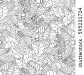 hand drawn artistic ethnic...   Shutterstock .eps vector #595231724