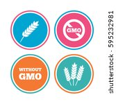 agricultural icons. gluten free ... | Shutterstock . vector #595232981