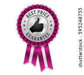 silver best price badge  ... | Shutterstock .eps vector #595248755