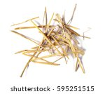 Pile Straw Isolated On White...