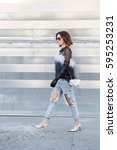 milan  italy   february 25 ... | Shutterstock . vector #595253231