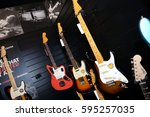 international guitar... | Shutterstock . vector #595257035