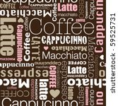 i love all sorts of coffee... | Shutterstock .eps vector #59525731