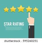 rating stars. flat design | Shutterstock .eps vector #595260251