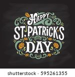vector illustration of happy... | Shutterstock .eps vector #595261355