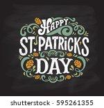 vector illustration of happy... | Shutterstock .eps vector #595261355