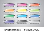 set of abstract multi color... | Shutterstock .eps vector #595262927