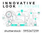 trendy innovation systems... | Shutterstock .eps vector #595267259