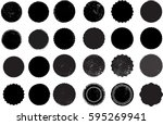 grunge post stamps collection ... | Shutterstock .eps vector #595269941