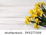 greeting card for easter ... | Shutterstock . vector #595277339