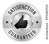 silver satisfaction guaranteed... | Shutterstock .eps vector #595282925