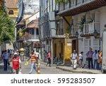 cartagena  colombia   october... | Shutterstock . vector #595283507