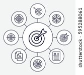 opportunity icons set. set of 9 ... | Shutterstock .eps vector #595288061