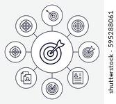 opportunity icons set. set of 9 ... | Shutterstock .eps vector #595288061