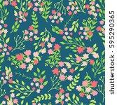 doodles cute seamless pattern.... | Shutterstock .eps vector #595290365