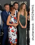"""Small photo of LOS ANGELES, CA. August 16, 2016: Producer Mark Burnett & wife actress Roma Downey & actor Jack Huston & girlfriend model Shannan Click at the premiere of """"Ben-Hur"""" at the TCL Chinese Theatre."""
