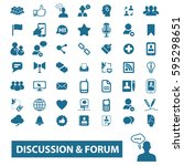 discussion forum icons | Shutterstock .eps vector #595298651