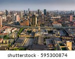 skyline of shanghai china | Shutterstock . vector #595300874