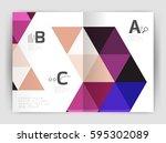 modern business brochure or... | Shutterstock .eps vector #595302089
