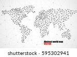 abstract polygonal world map... | Shutterstock .eps vector #595302941