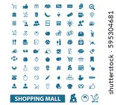 shopping mall icons | Shutterstock .eps vector #595304681