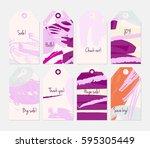 grunge texture rough strokes... | Shutterstock .eps vector #595305449