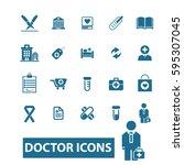 doctor icons | Shutterstock .eps vector #595307045