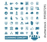 learning concept icons  | Shutterstock .eps vector #595307291