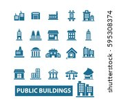 buildings icons | Shutterstock .eps vector #595308374