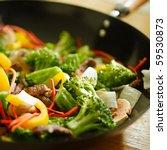 wok stir fry with selective... | Shutterstock . vector #59530873