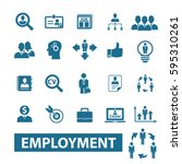employment icons  | Shutterstock .eps vector #595310261